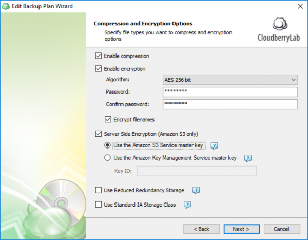 AES CloudBerryBackup