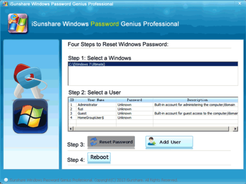 Select System Account from Locked WIndows OS