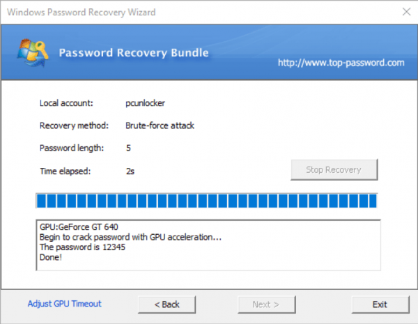 Windows Password Recovery 10