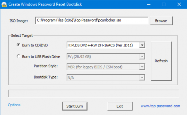 Windows Password Recovery 2