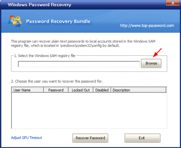 Windows Password Recovery 6