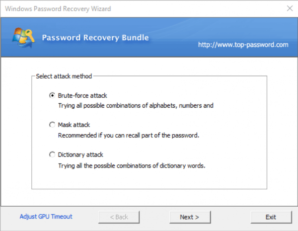 Windows Password Recovery 8