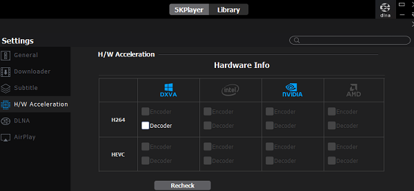 5K Player Hardware acceleration
