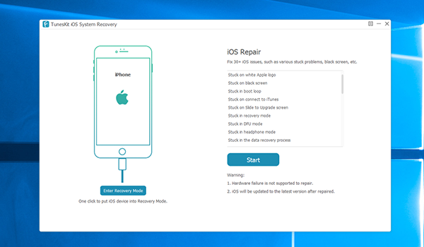 TuneKit iOS Recover Mode iOS Repair