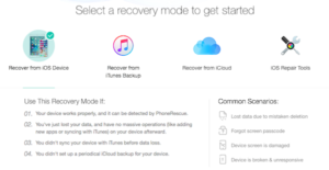 PhoneRescure Software Recover iOS 13 Data