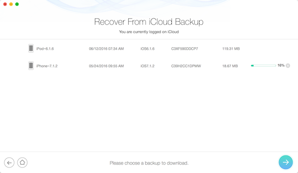 iCloud Backup Recover Data