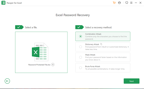 Excel Password Recovery using Passper