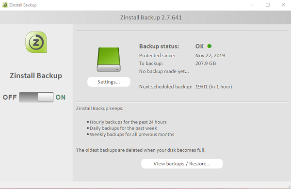 Zinstall FullBack Windows 10
