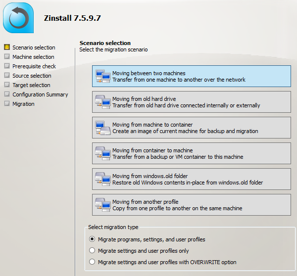 How to move from Windows 7 to Windows 10 Migration using Zinstall
