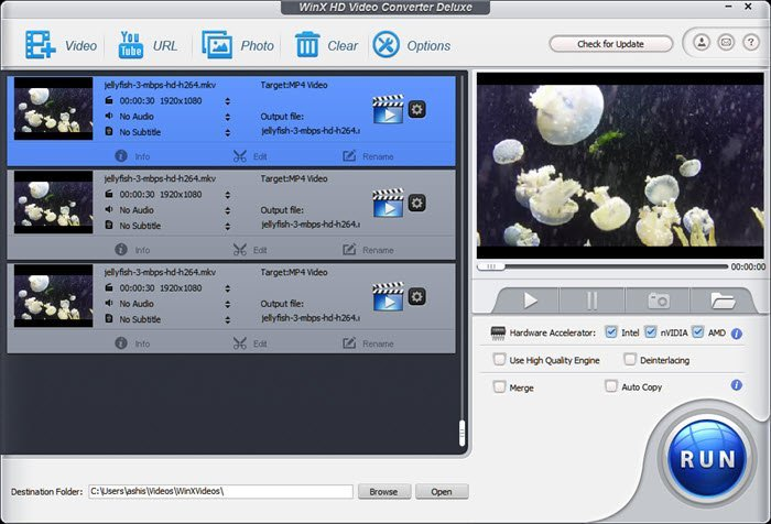WinX HD Video Converter Deluxe Software