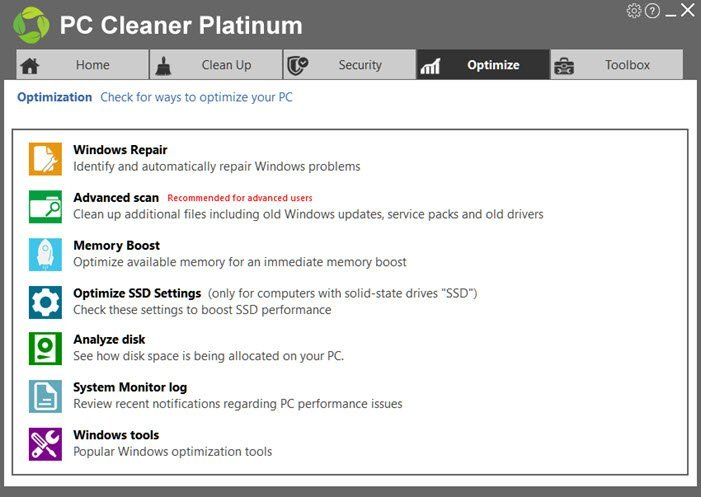 PC Cleaner Optimize