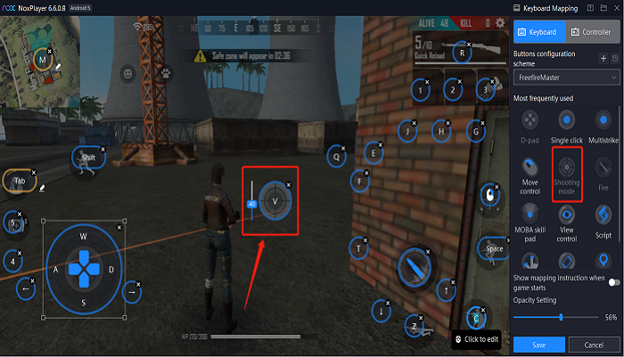 NoxPlayer Key Mapping
